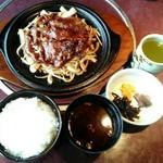 91484381 - 「牛肉の生姜焼定食」ご飯大盛り 1700円+税