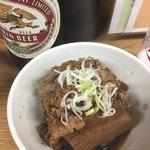 91489057 - 肉豆腐とキリンラガー