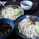 家庭Dining NAGOMI - 肉つけうどん(冷)ふつう 大盛り+100円