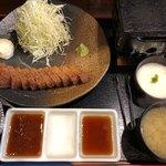 新潟牛華堂 - 牛カツ麦めしとろろ御膳(1,380円)