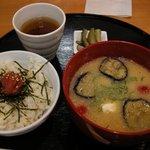 美噌元 - 冷や汁と五穀米ごはん梅干のせ