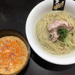 超純水採麺 天国屋 - 2018/8/25限定・豆乳と北斗さんの味噌・冷やし辛味噌つけ麺(900円)