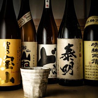 九州各地より取り寄せた数々の焼酎をお楽しみください♪