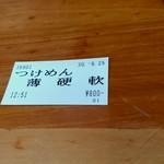 ラーメン いち大 - 【2018.8.25(土)】食券