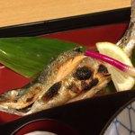 食事処 寿 - 姫ますの姿焼き