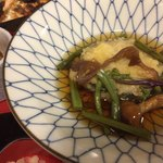 食事処 寿 - チップとそばの磯辺巻き(蕎麦寿司の天ぷら)