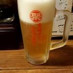 串揚げじゅらく - 生ビール