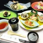 つるおか旬暦 彩鶴 - 彩コース 五品 御料理の一例