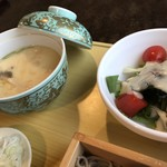 いの瀬 凛 - 茶碗蒸しとサラダ
