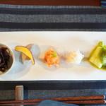きた川 - 前菜