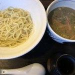 麺家チャクリキ - つけ麺敦盛。やっぱり黒が美味しかった。。