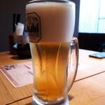 隠れ家個室居酒屋 鶏の久兵衛 - アサヒ生ビール