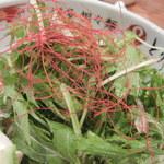博多担々麺 とり田 - 糸トウガラシが綺麗