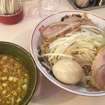 麺家 ぶんすけ - カレーつけ麺、ランチサービスの玉子が塩っぱい!