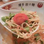 博多担々麺 とり田 - 大きなレンゲが便利でした