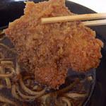 新月 - 豚カツそば(430円)