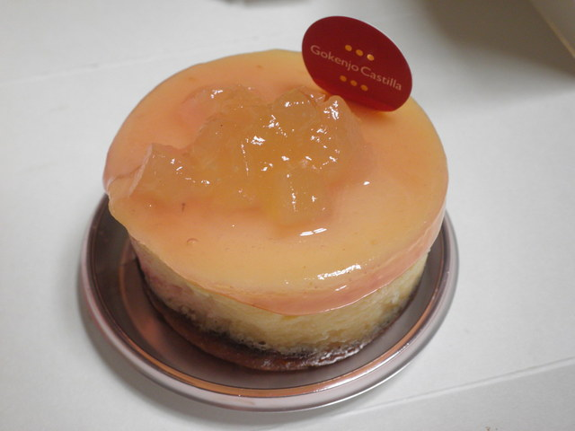 御献上カスティーラ 保戸野桜町店 - 桃のチーズタルト
