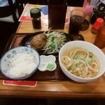 91530218 - ハンバーグ定食:わさび醤油(\885)