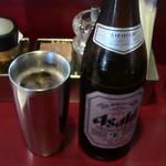 麺一盃 - ビール中瓶