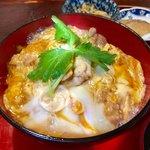桜の里 - 比内地鶏親子丼と稲庭うどんセット 1,600円 このセットの親子丼は、究極の親子丼みたいです!