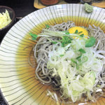 そば将軍 - 料理写真:冷やし月見そば 500円 2011.8