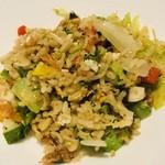 カントニーズ 燕 ケン タカセ - 夏野菜の炒飯 干し海老風味 アマランサスと焼き玄米入り 自家製豆板醤