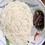 名登利寿し - そうめん♬︎夏場は冷たいそうです…煮麺(ニュウメン)が食べたかった…(^-^;