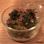Ristorante SHIKAZAWA - 鮑のヴァポーレに山菜、キャビアに穂紫蘇