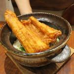 91545197 - 食事:揚げ穴子ご飯 お新香 味噌汁1