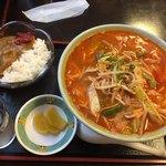 奈良屋 - 辛味噌ラーメンセット