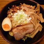 辛しや - 油めん+めんま(麺固・脂少な目)