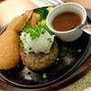"""カフェ&レストラン談話室 ニュートーキョー - 料理写真:""""和風ハンバーグ & 蟹コロッケ"""""""