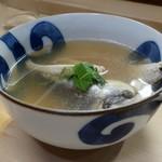 家庭料理 小川 - 鱧のお吸い物