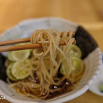 横濱蕎麦 傳介 - 蕎麦リフト!むずかしい。。