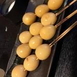 炭火焼鳥あずま - うずらの卵