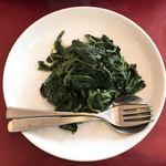 四川菜館 - ほうれん草のネギ油炒め