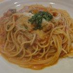9156217 - 茄子 リコッタチーズ トマトのスパゲッティ