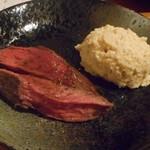 居酒屋 ちゅーりっぷと鯱 - アンガス牛ハラミのロースト、ツナとアンチョビのポテトサラダ