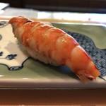 91563912 - 味噌の味が染みわたった車海老の漬け。味わい深い。