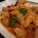 91565702 - 鶏肉と野菜の四川風炒め
