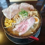荒川らーめん魂 あしら - 特製味噌らーめん(大盛)830円