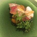 クッチーナ イタリアーナ ガッルーラ - 真鯵、焼きなす、青ぎりみかん、新生姜のジェラート