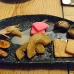 自然薯料理 やまたけ - 料理写真:前菜のお漬け物