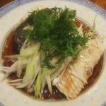 楽関記 - 黒鯛の蒸し、切り身