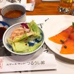ステーキランド神戸館 - 前菜オードブル登場