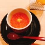 91579257 - いくらの冷製茶碗蒸し