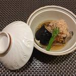日本料理 空海 - 茄子・もろこし海老新丈