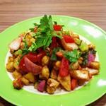 ちゃとりかとり - ひよこ豆と角切り野菜のエスニックサラダ490円