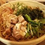 ひとはな亭 - ツルツルの平打ち麺