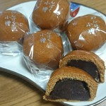 たなか遊花堂 - こし餡たっぷり!黒糖の甘さかクセになり、気がついたら3ヶ食べてた!(///∇///)